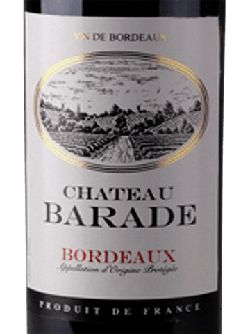 Chateau Barade Bordeaux 2016