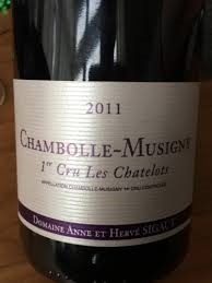 Sigaut Chambolle Musigny 1er Cru Les Chatelots 2017