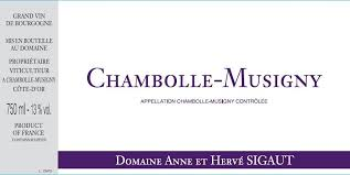 Sigaut Chambolle Musigny 2015