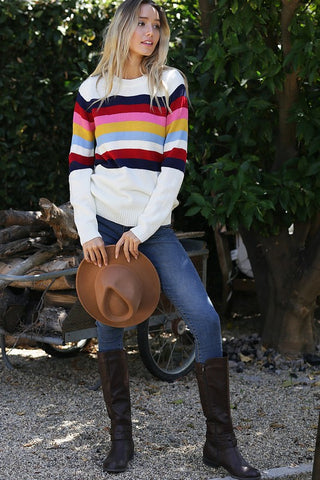 Oxford Striped Sweater