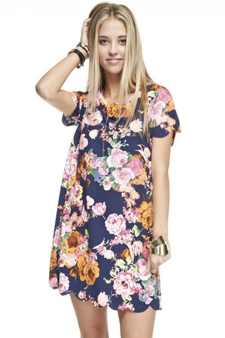 Sangria Floral Tunic