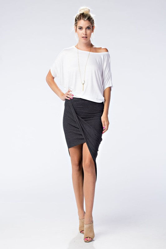 Gwen Mini Drape Skirt