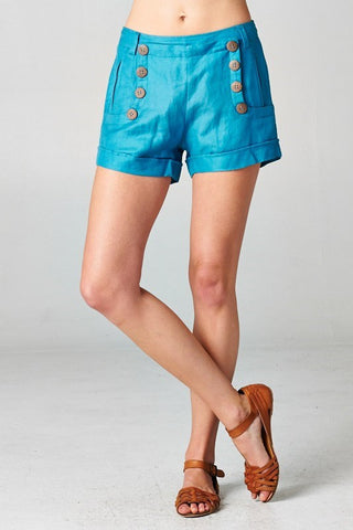 Caneel Button Shorts