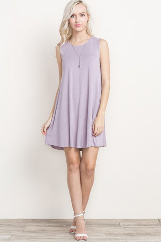 Zoe Bamboo Pocket Dress (Lavender)