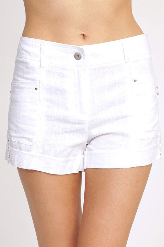 Ellie & Kate Linen Shorts