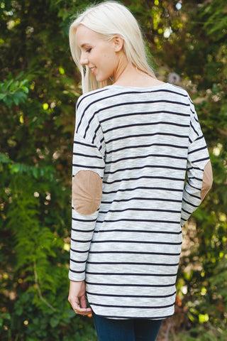 Roslyn Road Elbow Patch Tee