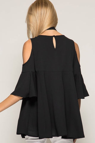 Jamison Cold Shoulder Top