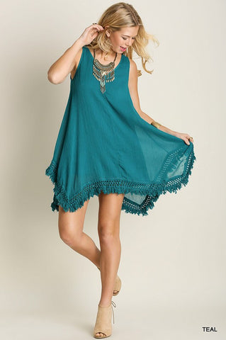 Laurel Canyon Dress (in Teal)