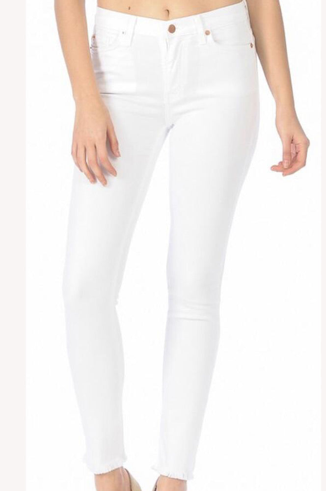 Angry Rabbit White Skinny Jeans