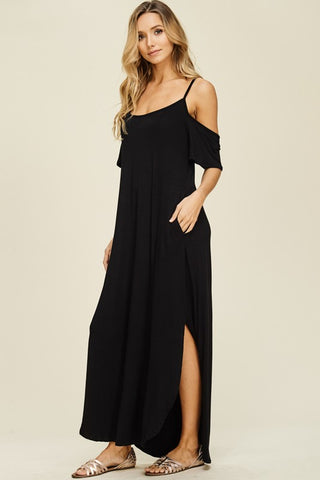 Madison Cold Shoulder Maxi