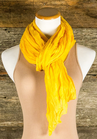Gold Crinkled Scarf