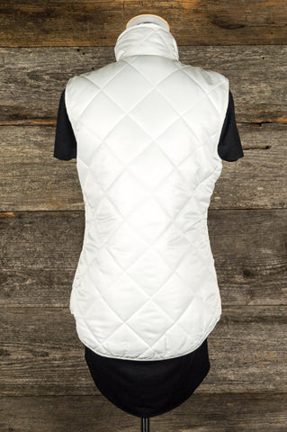 Spring In My Step Vest (Winter White)