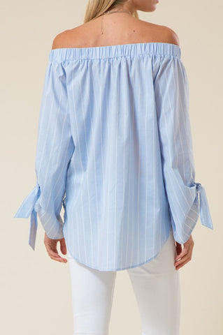 May Shoulder Striped Top