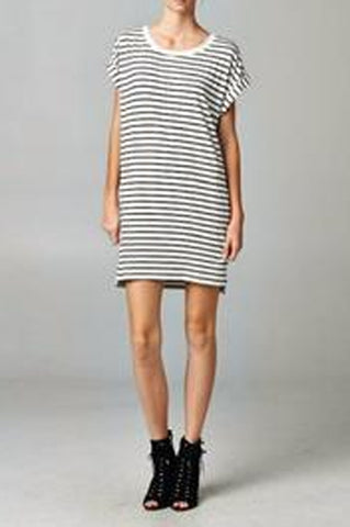 Saylor Striped Tshirt Dress