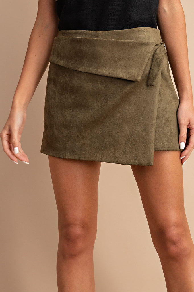 San Simeone Suede Shorts