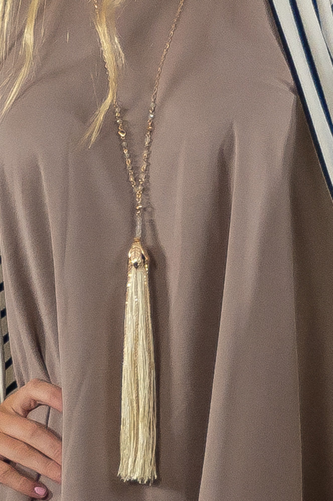 Leila Tassel Necklace