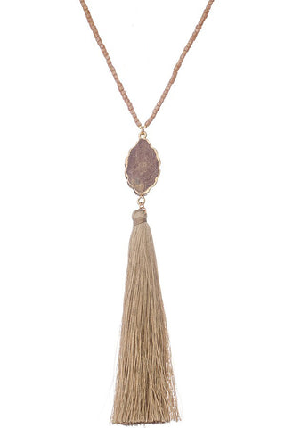 Highland Stone Tassel Necklace