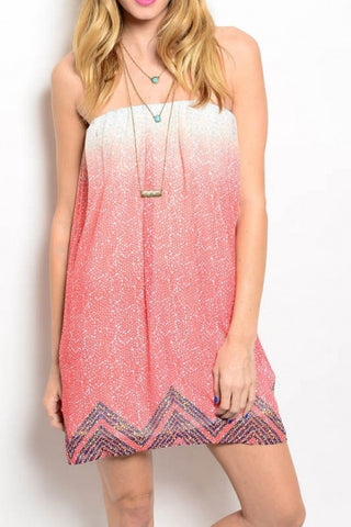 Summer Strapless Babydoll Dress
