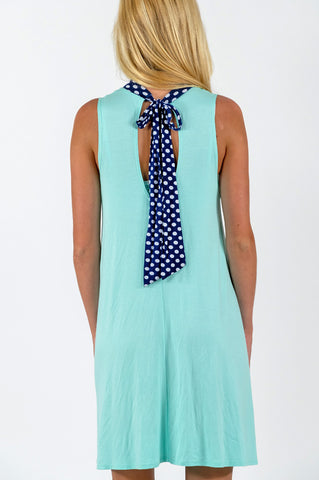 Newport Polka Tie Dress