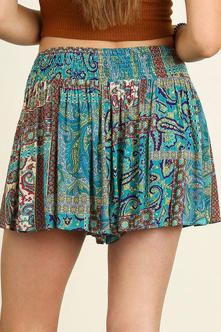 Un Teal Dark Shorts