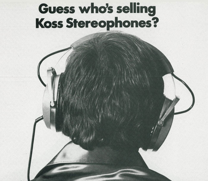 Guess who's selling Koss Stereophones back of Doc Severinsen's head