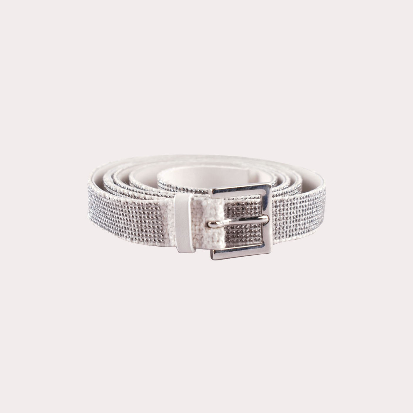 Silver Crystal Accent Belt