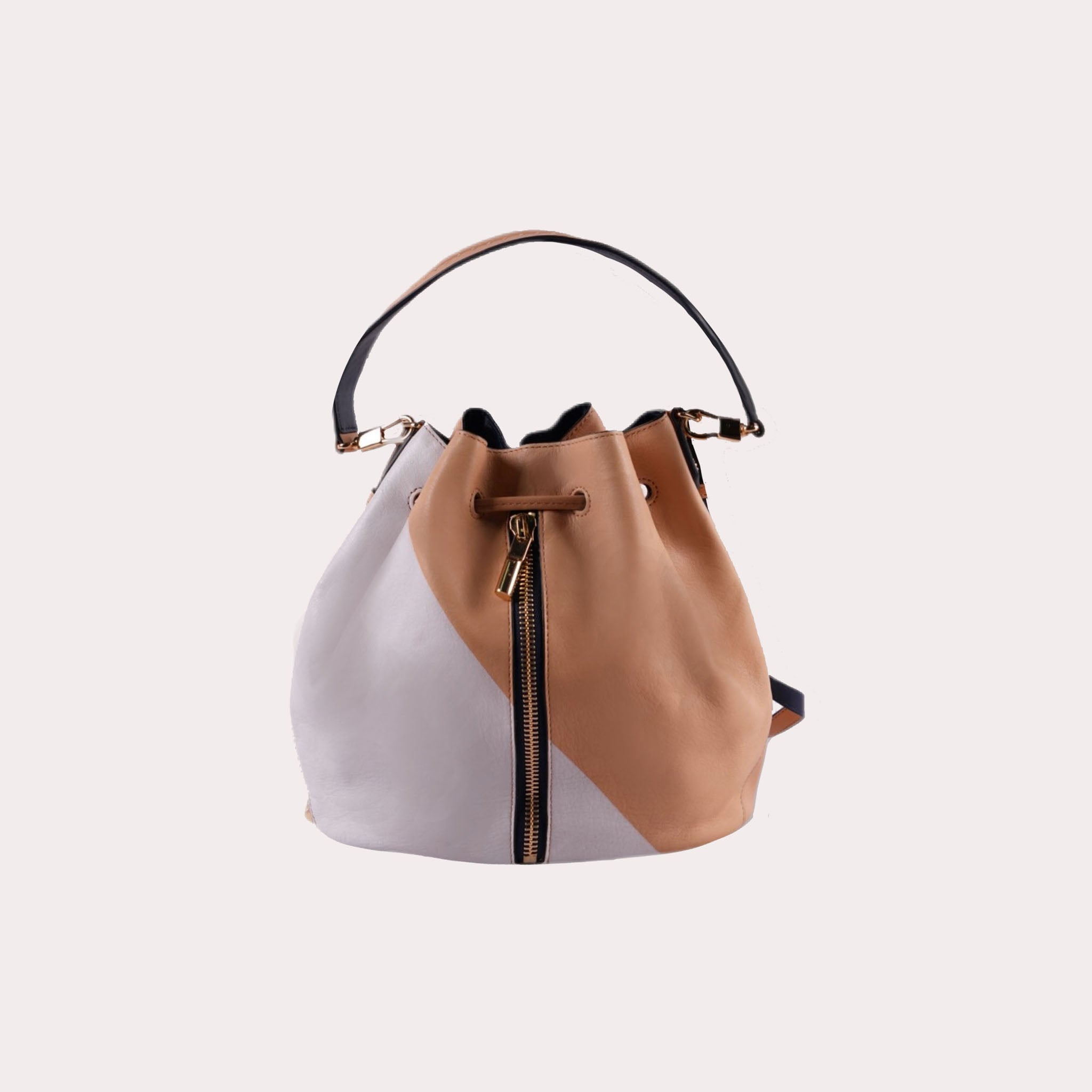 Cynnie Bucket Bag with Front Zipper