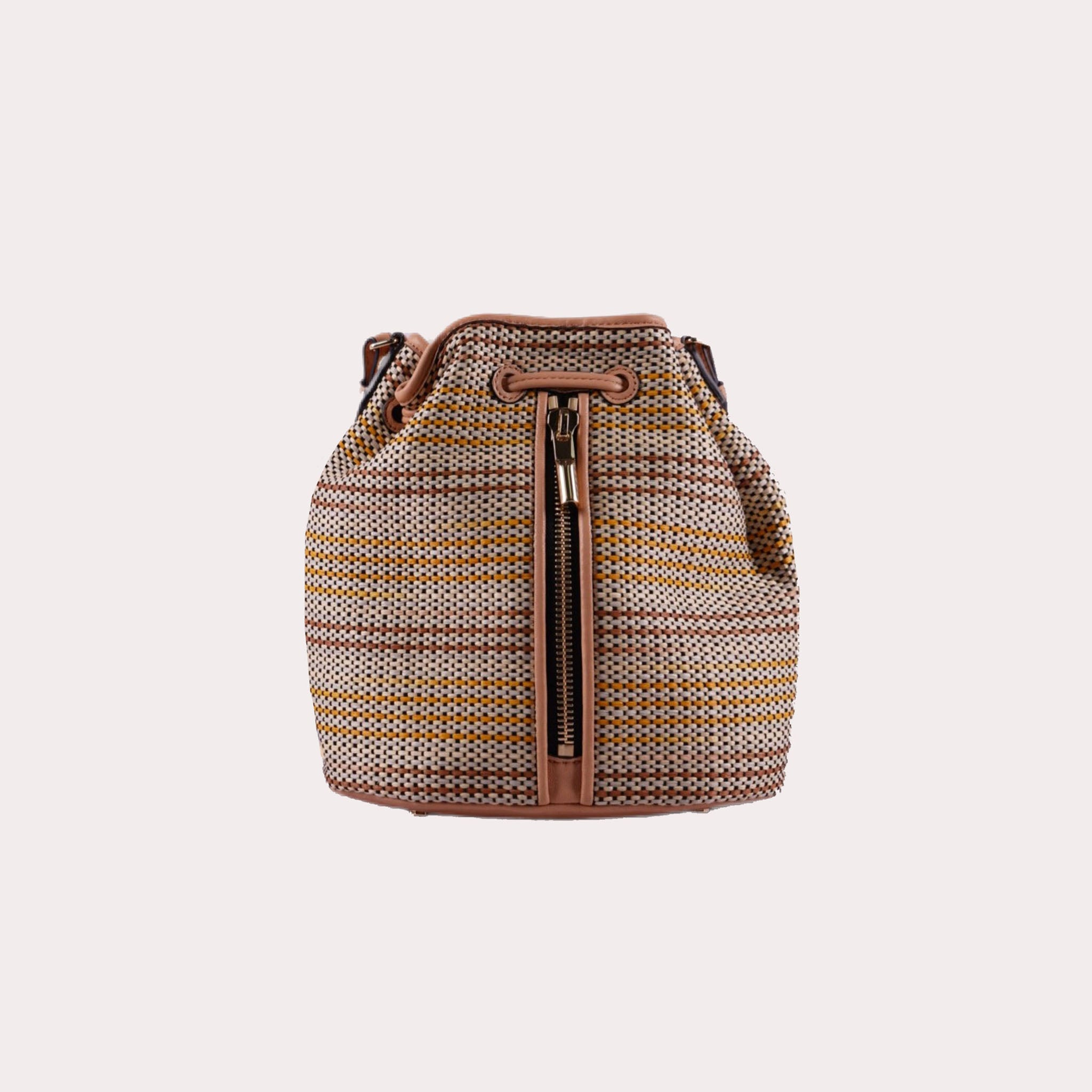Cynnie Mini Bucket Bag with Front Zipper