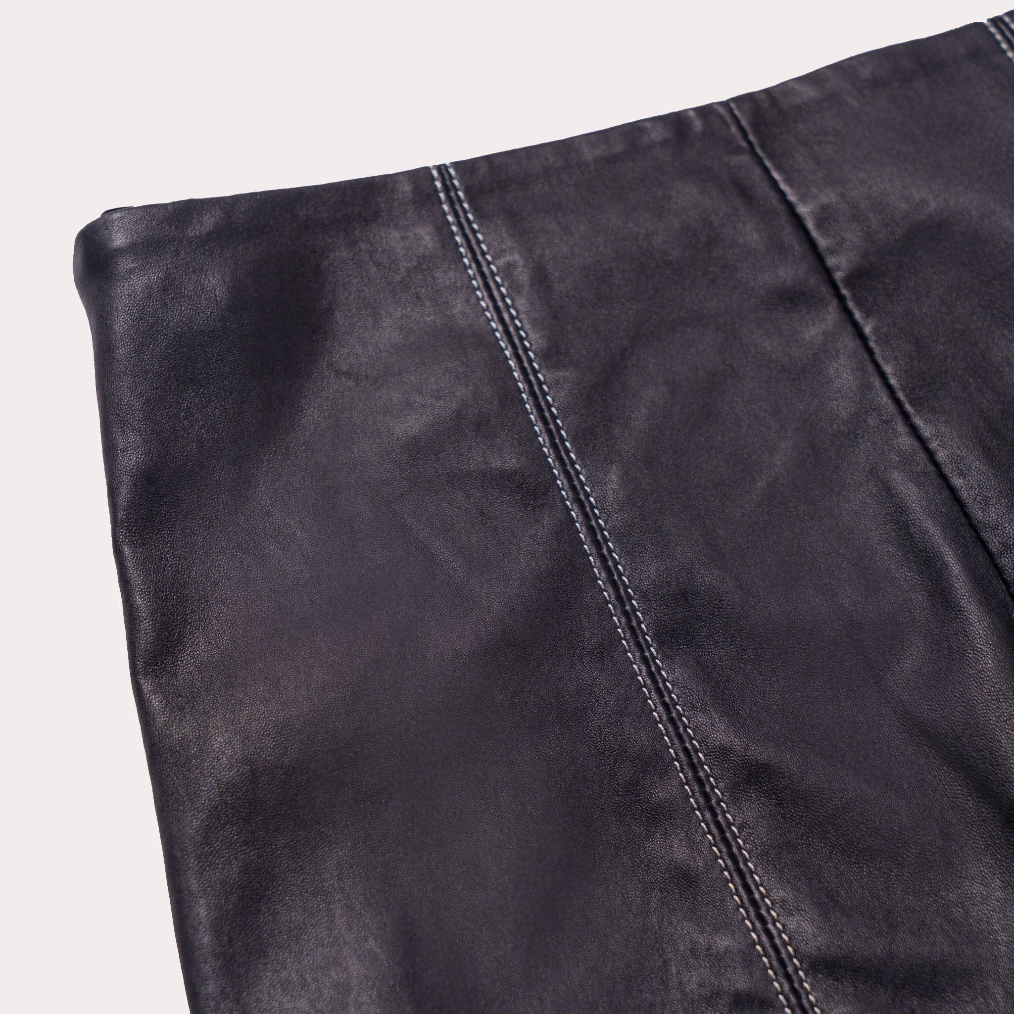 Straight-Leg Lambskin Trousers