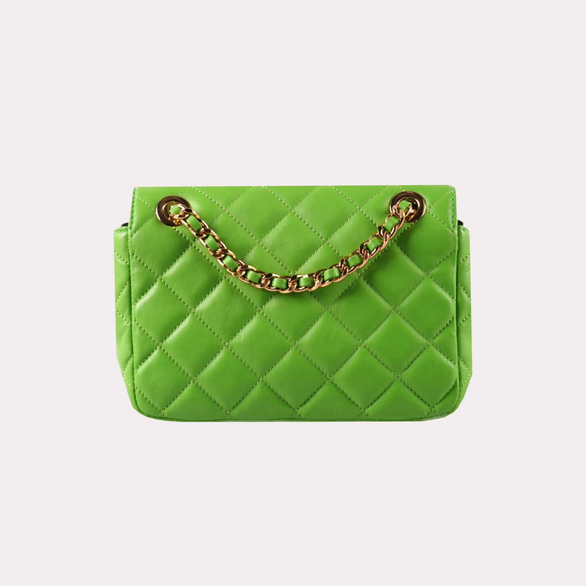 Logo-Detailed Quilted Shoulder Bag