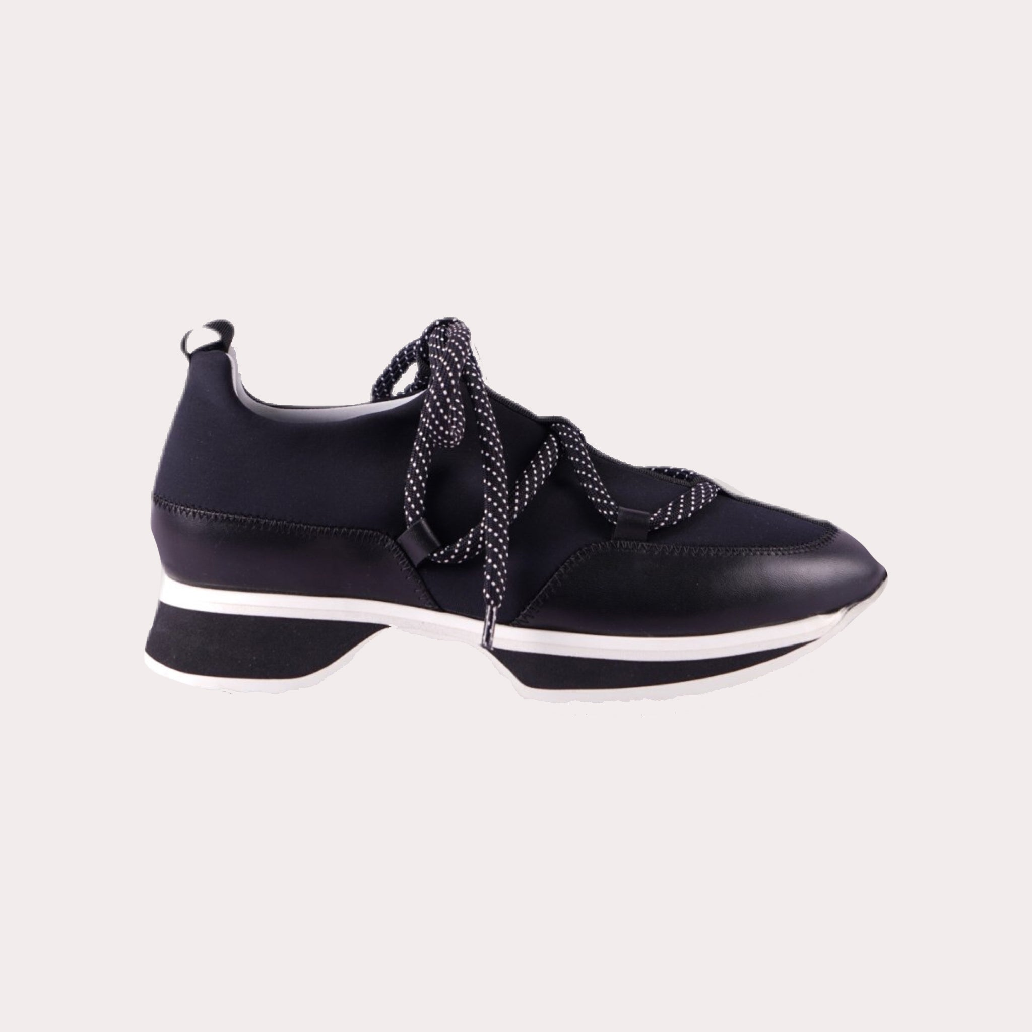 Leather Mix Curved Sole Sneakers
