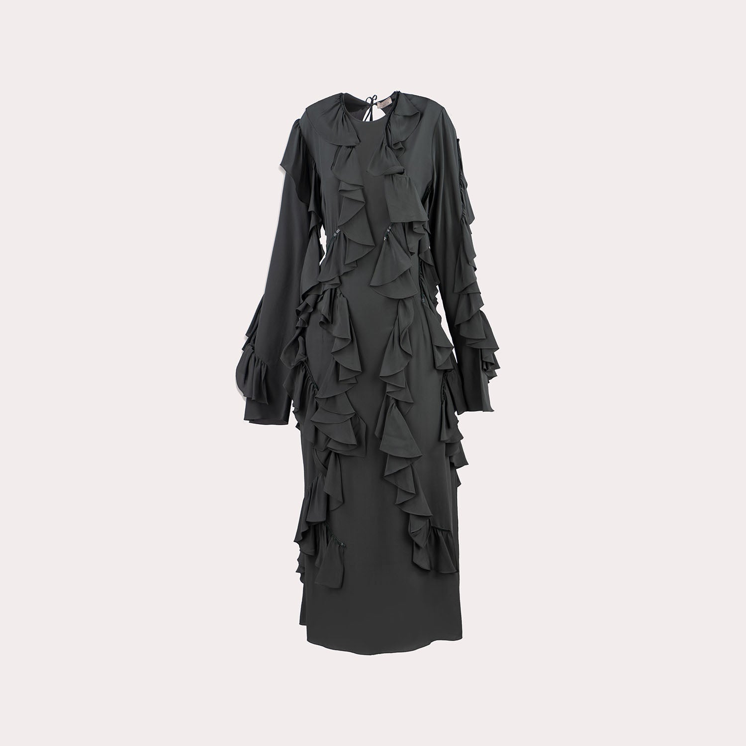 Ruffled Long Sleeve Dress