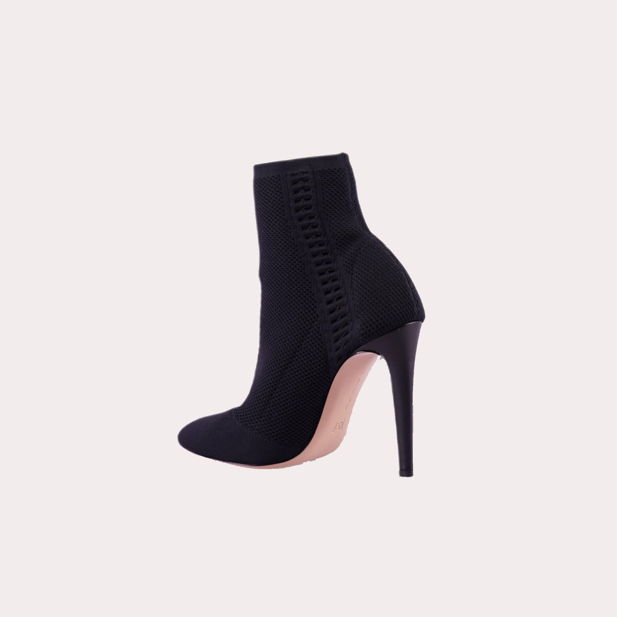 Stretch Cloth Ankle Boots