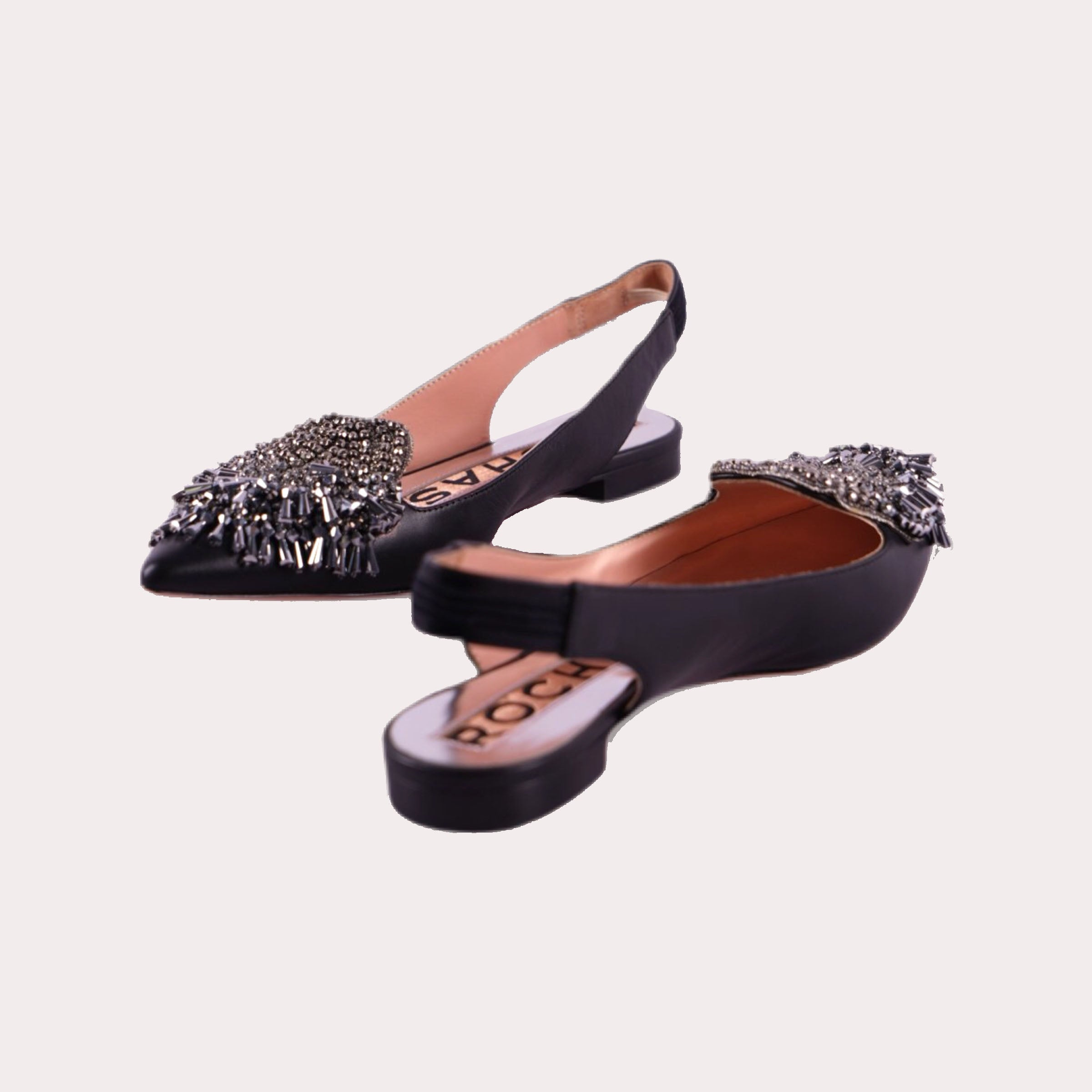 Embellished Ballerines With Slingback