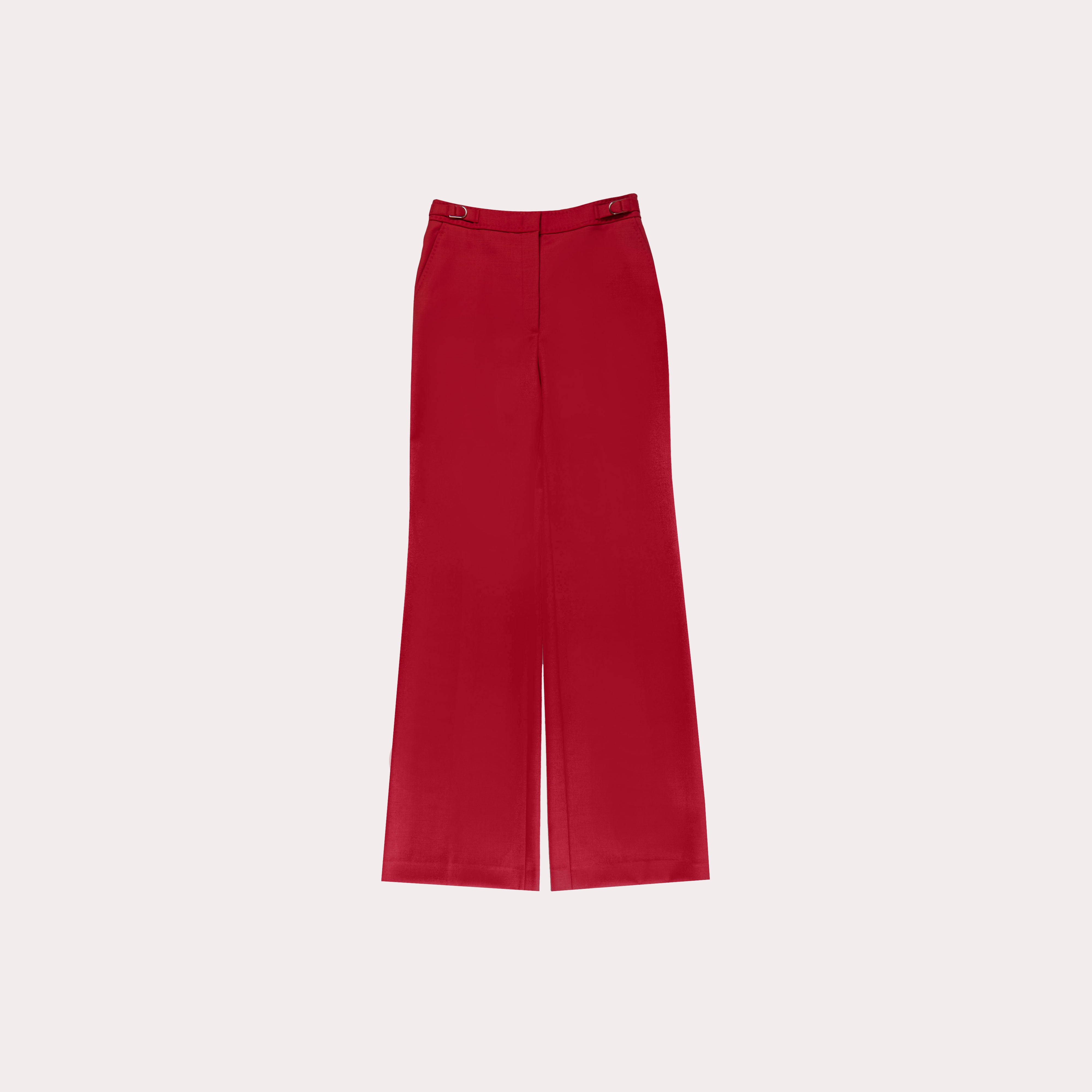 Wool-Blend Flared Trousers
