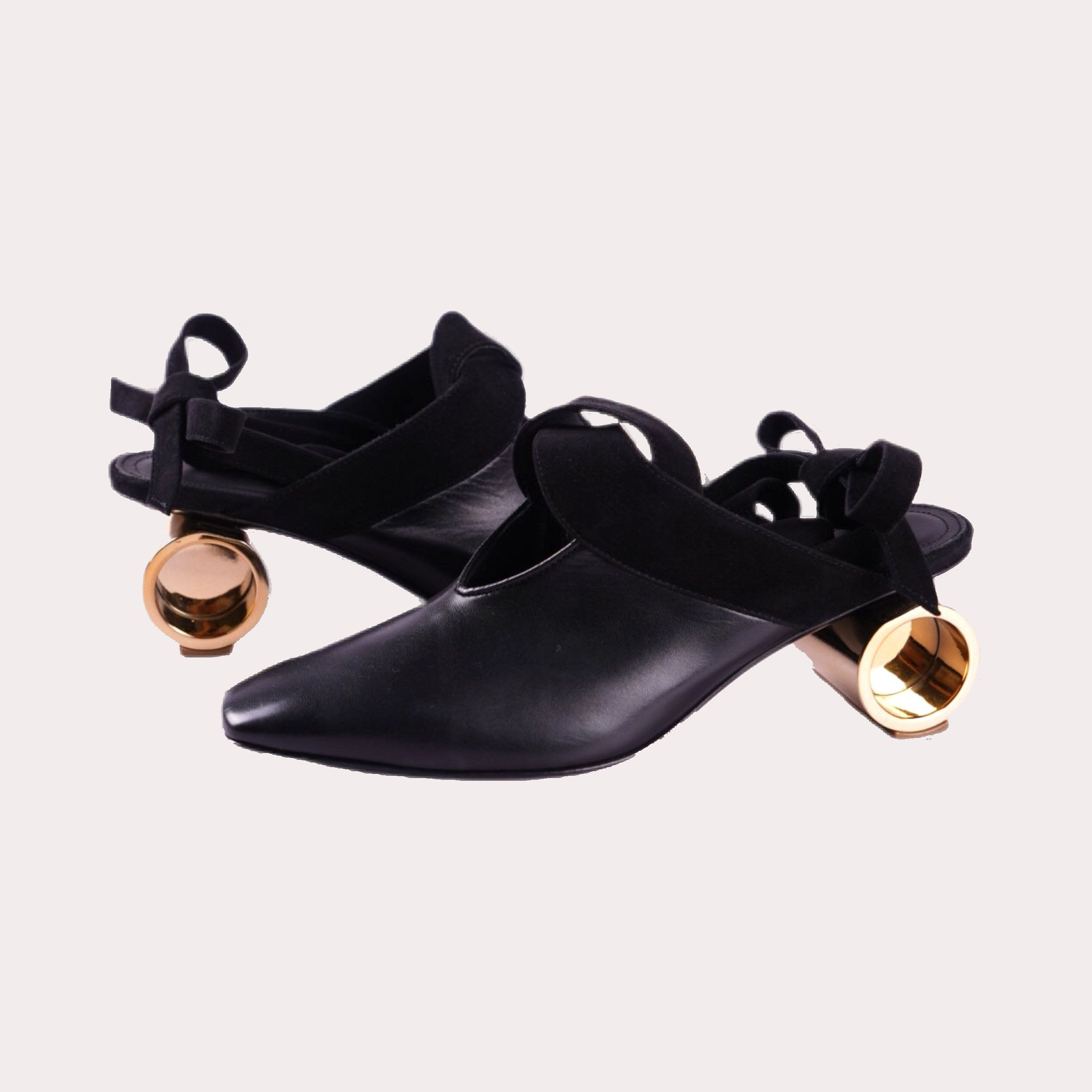 Cylinder Heel Mules