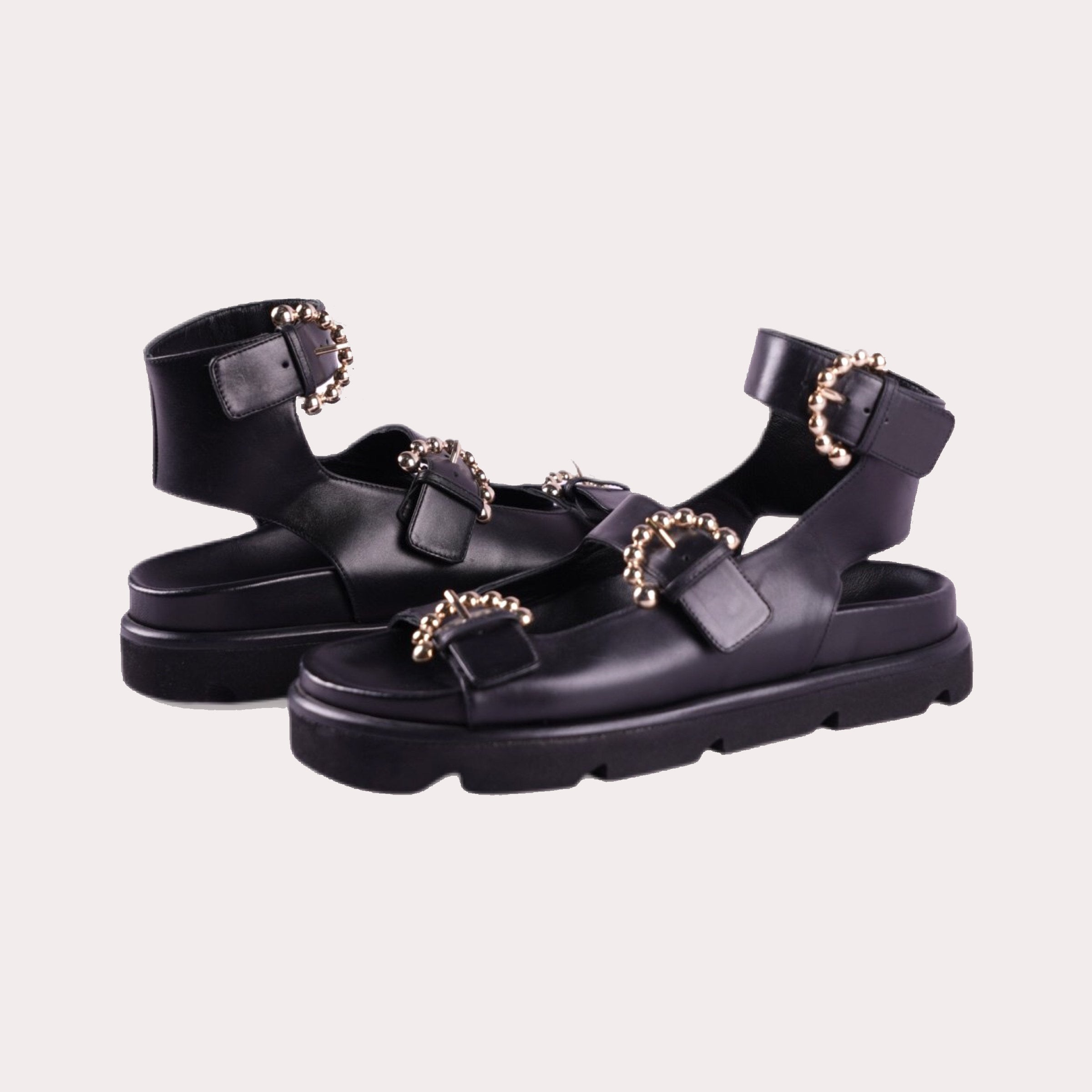 Chunky Buckled Sandals