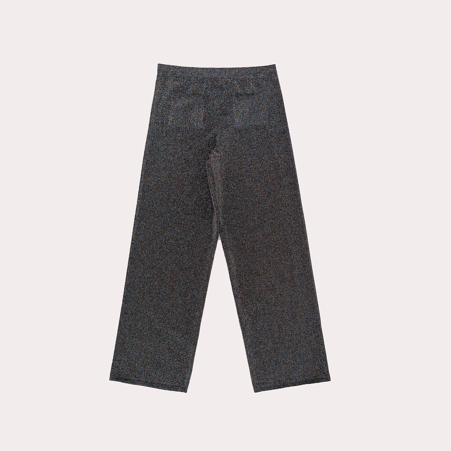 Straight-Leg Lurex Trousers