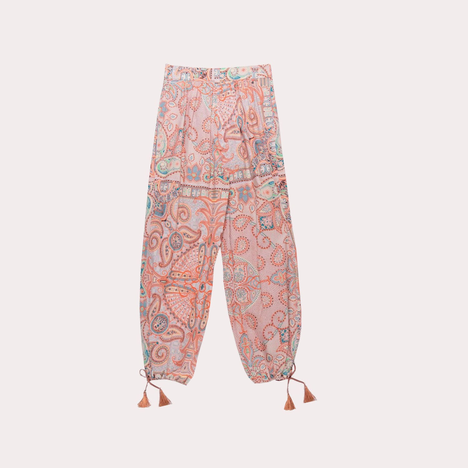 Paisley Carrot Leg Pants