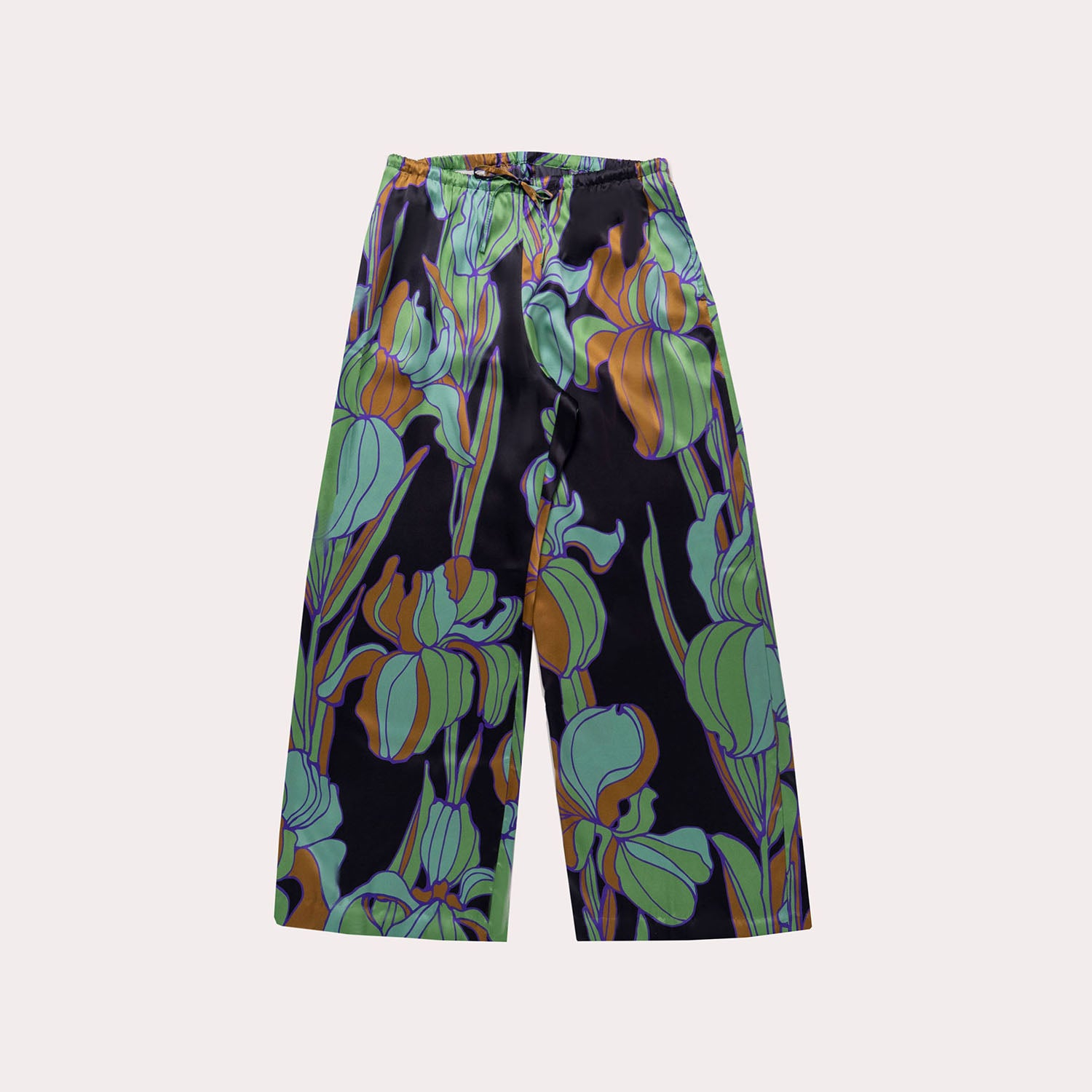 Floral Wide-Leg Trousers