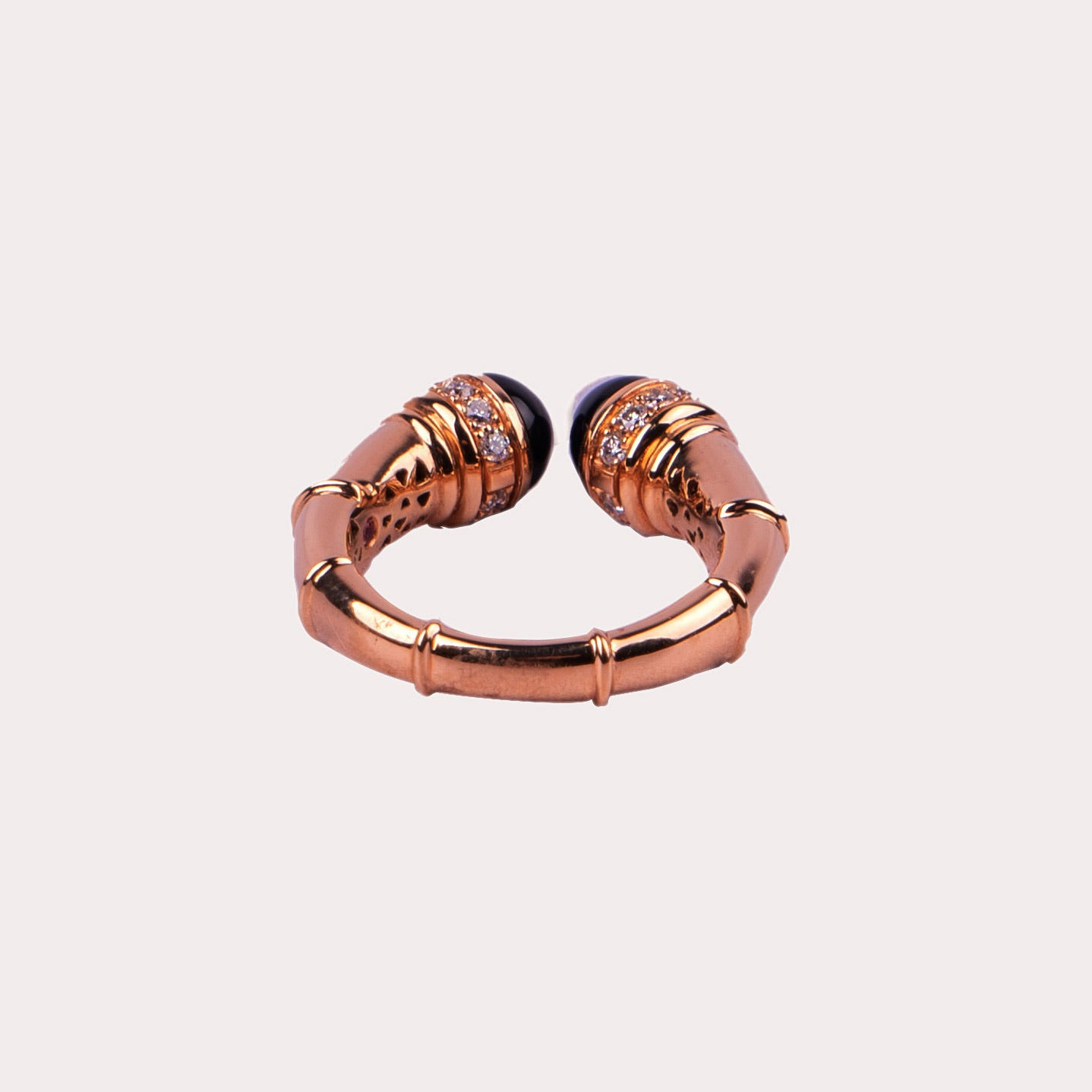 Black Onyx Rose Gold Ring