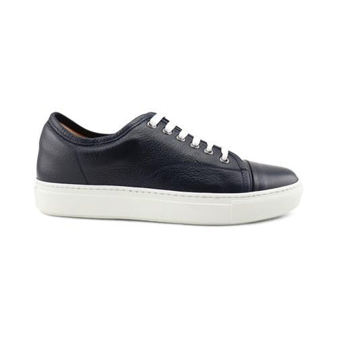 Sneakers in pelle bottalata blu