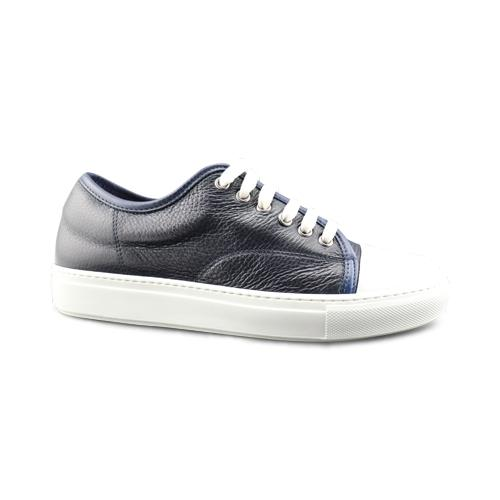 Sneakers in pelle bottolato blu