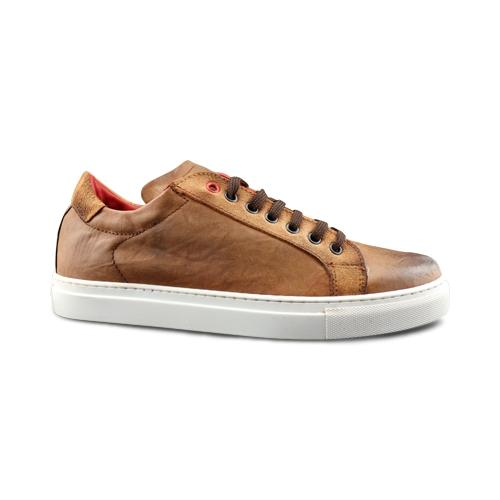 Sneakers pelle cuoio