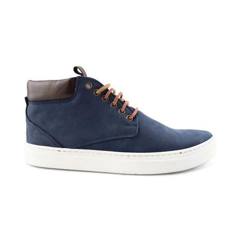 Sneakers alte in nabuk blu