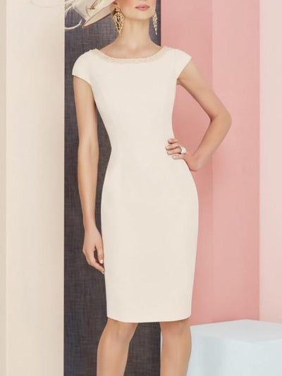 Bodycon 3/4 Length Sleeve Knee Length Cocktail Party Wedding Mother's Dresses PreOrder44