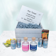 Stockport Gin and Tonic Personalised Hamper, Cocoba Chocolate, Solu Candle
