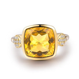 Classic-Cushion-Citrine-Ring-with-Diamond-Accents