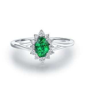 Oval-Floral-Halo-Emerald-Engagement-Ring