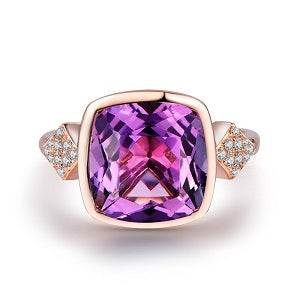 Vintage-Cushion-Amethyst-Ring-with-Diamonds-Accents